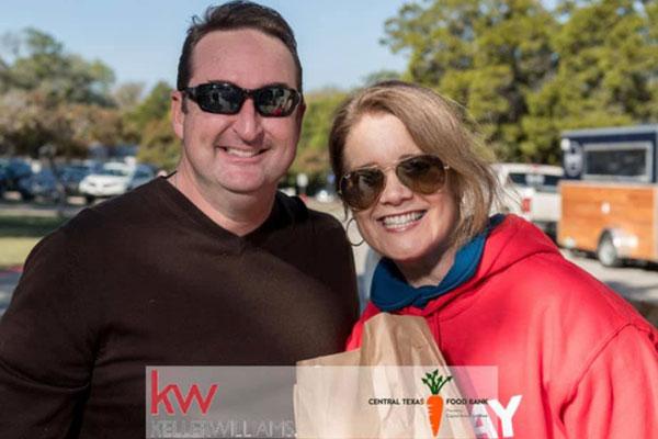Jeremy Bartlett serving the Texas Food Bank