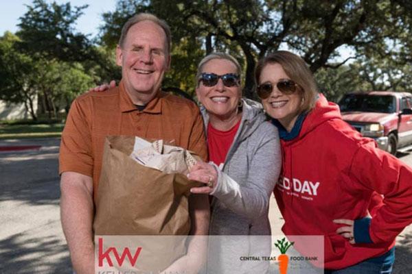 John Swanson serving the Texas Food Bank